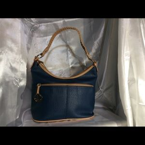 Brand New Navy Blue With Tan Edges Purse
